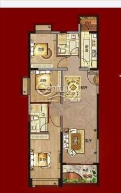 (濉溪县)恒大名都3室2厅2卫82.8万110m²精装修出售